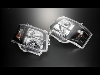 C Ⅲ型HID専用 DEPO製クリスタルヘッドライト クロームブラック