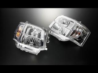 C Ⅲ型HID専用 DEPO製クリスタルヘッドライト クローム