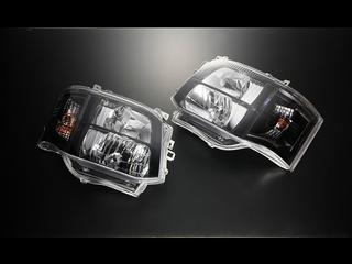 C Ⅲ型HID専用 DEPO製クリスタルヘッドライト ステルスブラック